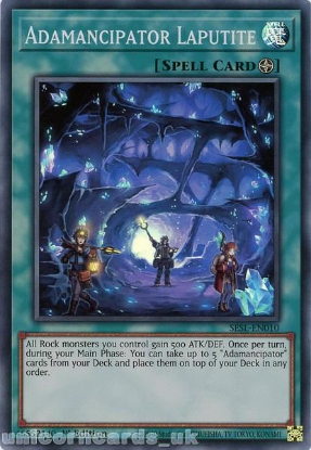Picture of SESL-EN010 Adamancipator Laputite Super Rare 1st Edition Mint YuGiOh Card