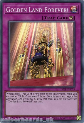 Picture of SESL-EN035 Golden Land Forever! Super Rare 1st Edition Mint YuGiOh Card