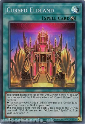 Picture of SESL-EN028 Cursed Eldland Super Rare 1st Edition Mint YuGiOh Card
