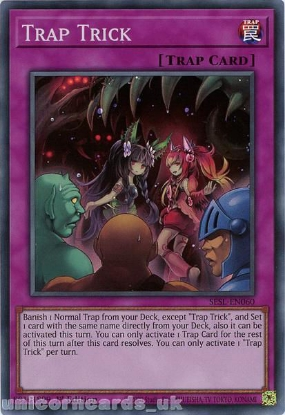 Picture of SESL-EN060 Trap Trick Super Rare 1st Edition Mint YuGiOh Card