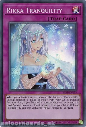 Picture of SESL-EN025 Rikka Tranquility Super Rare 1st Edition Mint YuGiOh Card