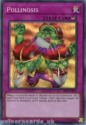 Picture of SESL-EN059 Pollinosis Super Rare 1st Edition Mint YuGiOh Card