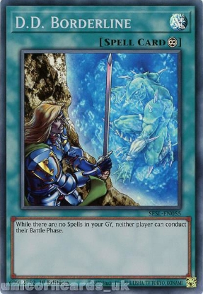 Picture of SESL-EN055 D.D. Borderline Super Rare 1st Edition Mint YuGiOh Card