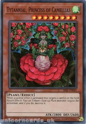 Picture of SESL-EN041 Tytannial, Princess of Camellias Super Rare 1st Edition Mint YuGiOh Card