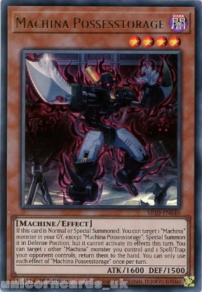 Picture of SR10-EN040 Machina Possesstorage Ultra Rare 1st Edition Mint YuGiOh Card
