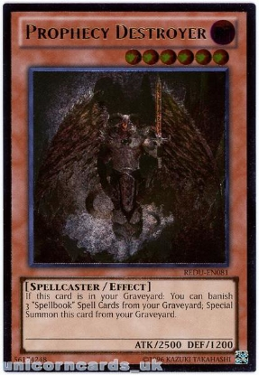 Picture of REDU-EN081 Prophecy Destroyer Ultimate Rare UNL Edition Mint YuGiOh Card