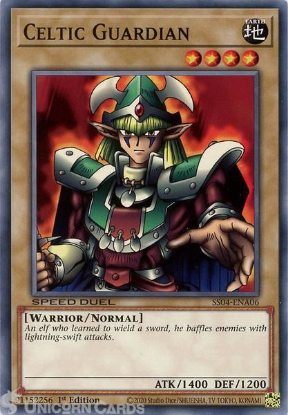 Picture of SS04-ENA06 Celtic Guardian Common 1st Edition Mint YuGiOh Card