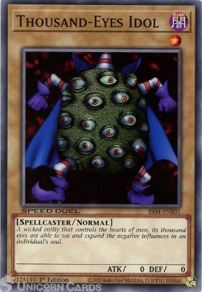 Picture of SS04-ENB01 Thousand-Eyes Idol Common 1st Edition Mint YuGiOh Card