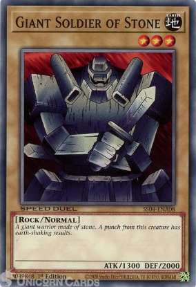 Picture of SS04-ENA08 Giant Soldier of Stone Common 1st Edition Mint YuGiOh Card