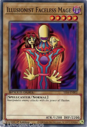Picture of SS04-ENB02 Illusionist Faceless Mage Common 1st Edition Mint YuGiOh Card