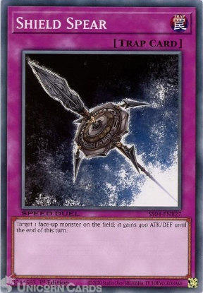 Picture of SS04-ENB27 Shield Spear Common 1st Edition Mint YuGiOh Card