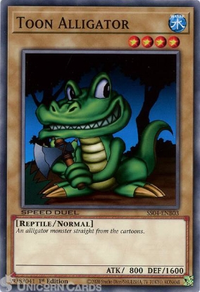 Picture of SS04-ENB03 Toon Alligator Common 1st Edition Mint YuGiOh Card