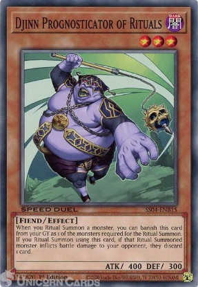 Picture of SS04-ENB15 Djinn Prognosticator of Rituals Common 1st Edition Mint YuGiOh Card