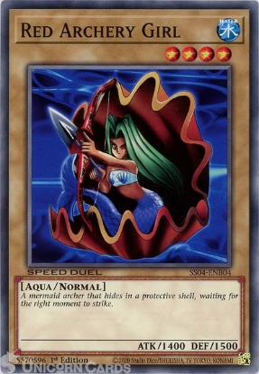 Picture of SS04-ENB04 Red Archery Girl Common 1st Edition Mint YuGiOh Card