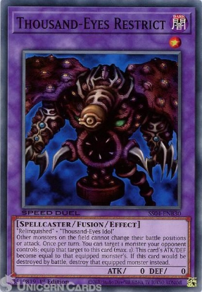 Picture of SS04-ENB30 Thousand-Eyes Restrict Common 1st Edition Mint YuGiOh Card