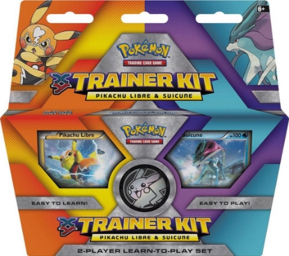 Picture of Pikachu Libre and Suicune - - Pokemon TCG XY Trainer Kit :: 2 Player Set