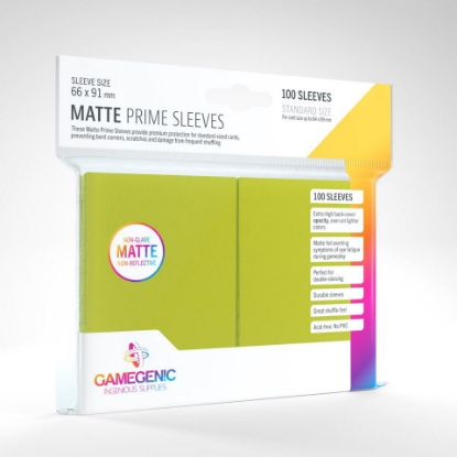 Picture of Gamegenic - Matte Prime Sleeves :: Lime :: MTG/Pokemon Size :: (100 Sleeves)