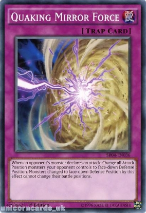 Picture of SR04-EN036 Quaking Mirror Force UNL Edition Mint YuGiOh Card