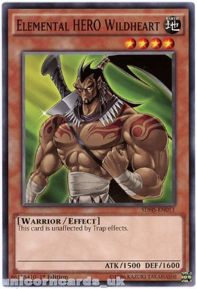 Picture of SDHS-EN011 Elemental HERO Wildheart 1st Edition Mint YuGiOh Card