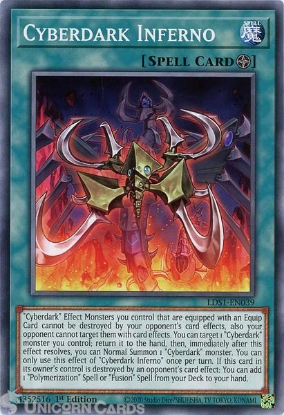 Picture of LDS1-EN039 Cyberdark Inferno Common 1st Edition Mint YuGiOh Card