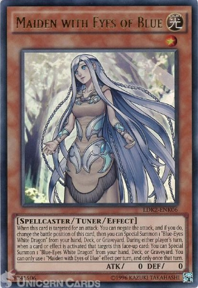 Picture of LDK2-ENK06 Maiden with Eyes of Blue Ultra Rare UNL edition Mint YuGiOh Card