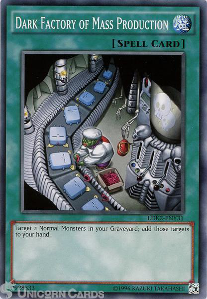 Picture of LDK2-ENY31 Dark Factory of Mass Production UNL edition Mint YuGiOh Card
