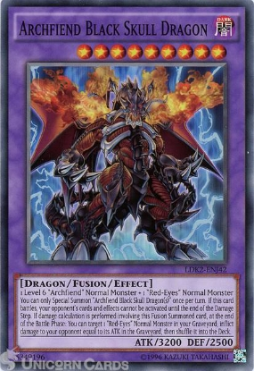 Picture of LDK2-ENJ42 Archfiend Black Skull Dragon UNL edition Mint YuGiOh Card