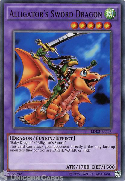 Picture of LDK2-ENJ43 Alligator's Sword Dragon UNL edition Mint YuGiOh Card