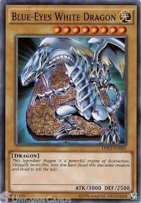 Picture of LDK2-ENK01 Blue-Eyes White Dragon UNL edition Mint YuGiOh Card