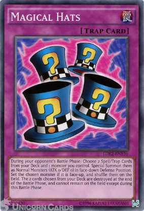 Picture of LDK2-ENY36 Magical Hats UNL edition Mint YuGiOh Card