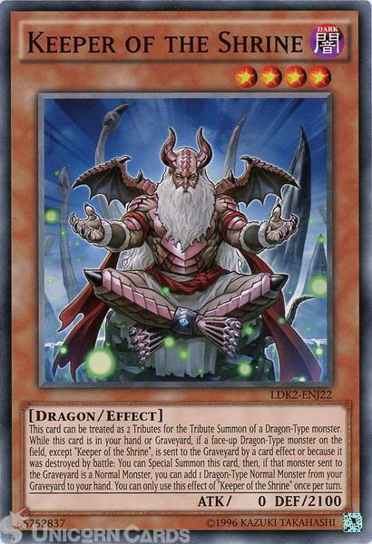Picture of LDK2-ENJ22 Keeper of the Shrine UNL edition Mint YuGiOh Card