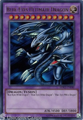 Picture of LDK2-ENK40 Blue-Eyes Ultimate Dragon Ultra Rare UNL edition Mint YuGiOh Card