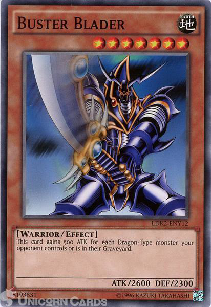 Picture of LDK2-ENY12 Buster Blader UNL edition Mint YuGiOh Card