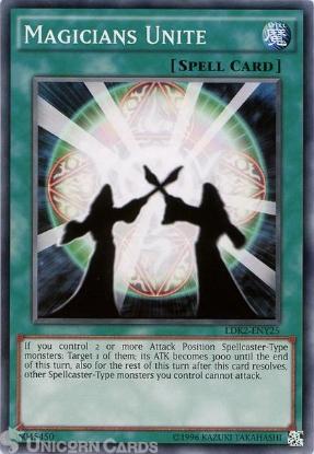 Picture of LDK2-ENY25 Magicians Unite UNL edition Mint YuGiOh Card
