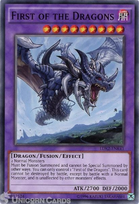 Picture of LDK2-ENK41 First of the Dragons UNL edition Mint YuGiOh Card