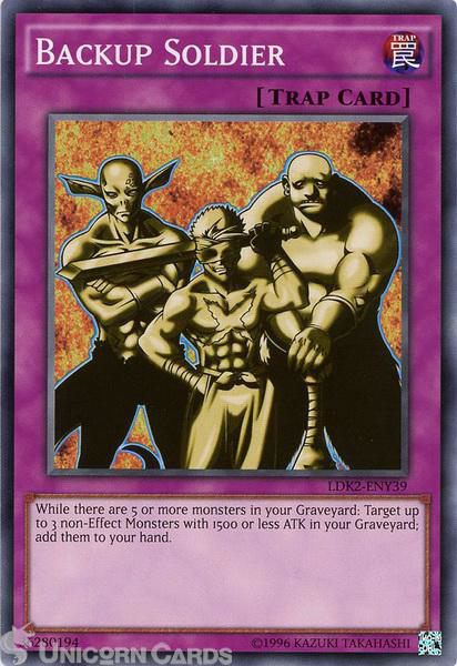 Picture of LDK2-ENY39 Backup Soldier UNL edition Mint YuGiOh Card