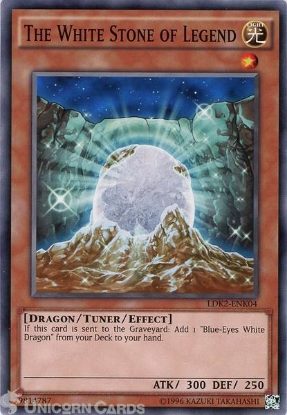 Picture of LDK2-ENK04 The White Stone of Legend UNL edition Mint YuGiOh Card