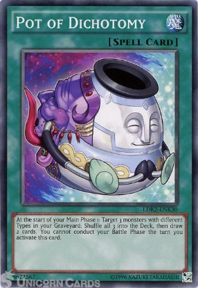 Picture of LDK2-ENK30 Pot of Dichotomy UNL edition Mint YuGiOh Card