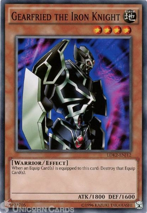Picture of LDK2-ENJ12 Gearfried the Iron Knight UNL edition Mint YuGiOh Card