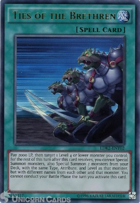 Picture of LDK2-ENY02 Ties of the Brethren Ultra Rare UNL edition Mint YuGiOh Card