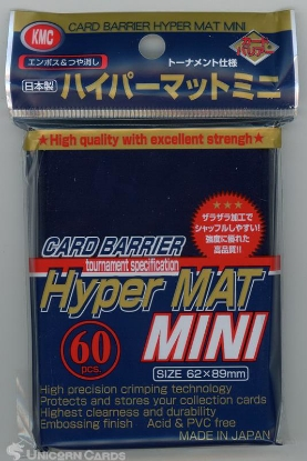 Picture of KMC Small Sleeves - Hyper Matt Blue :: High Quality YuGiOh Card Sleeves x60