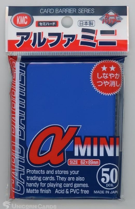 Picture of KMC Small Sleeves - Alpha Mini Blue :: High Quality YuGiOh Card Sleeves x50