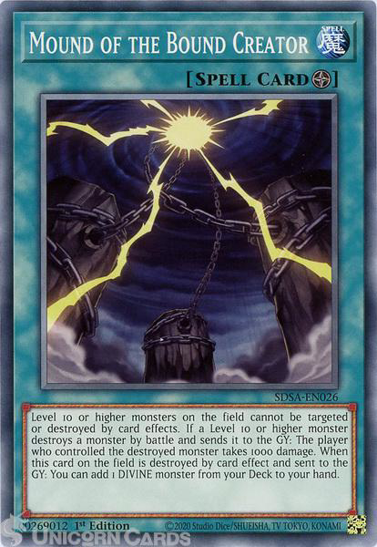Picture of SDSA-EN026 Mound of the Bound Creator Common 1st Edition Mint YuGiOh Card