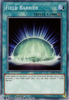 Picture of SDSA-EN031 Field Barrier Common 1st Edition Mint YuGiOh Card