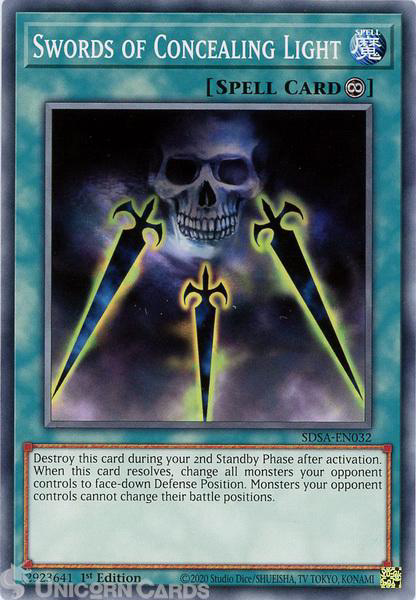 Picture of SDSA-EN032 Swords of Concealing Light Common 1st Edition Mint YuGiOh Card