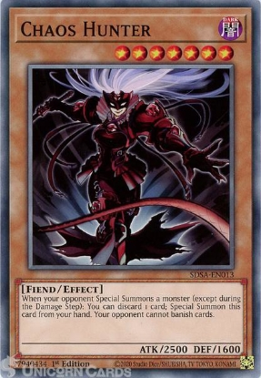 Picture of SDSA-EN013 Chaos Hunter Common 1st Edition Mint YuGiOh Card