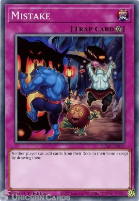 Picture of SDSA-EN039 Mistake Common 1st Edition Mint YuGiOh Card