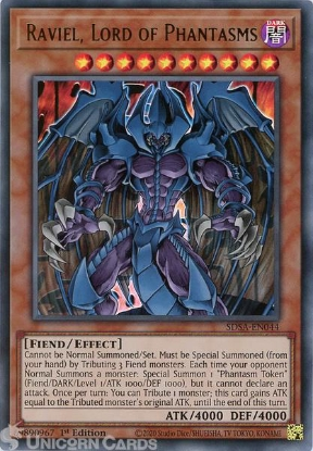 Picture of SDSA-EN044 Raviel, Lord of Phantasms Ultra Rare 1st Edition Mint YuGiOh Card