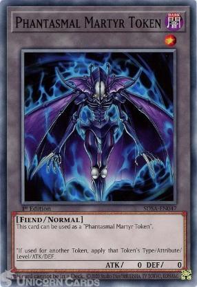 Picture of SDSA-EN047 Phantasmal Martyr Token Common 1st Edition Mint YuGiOh Card