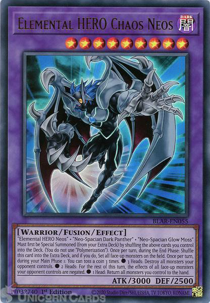 Picture of BLAR-EN055 Elemental HERO Chaos Neos Ultra Rare 1st Edition Mint YuGiOh Card